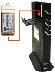 専用無線LANカード(WL54AG)の装着方法